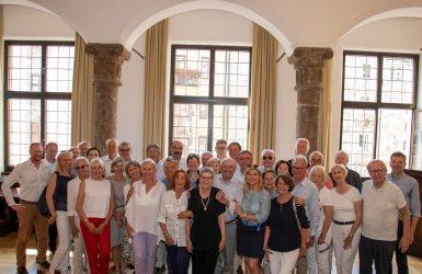 Empfang der TG Reserve im Historischen Saal des Rathauses Innsbruck bei Georg Willi, Bürgermeister der Landeshauptstadt Tirol - im Bild rechts